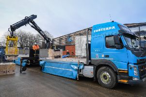 A delivery of 12,000 London Bricks to a Forterra-nominated Construction Hub. Copyright 2018 Mike Sewell (tel: 07966 417114) Photograph by Mikey Sewell.