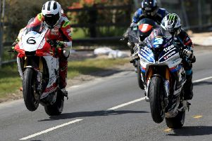 William and Michael Dunlop in action at the Cookstown 100 in 2018.