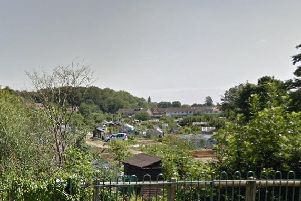 Odibourne Allotments. Photo from Google Street View.