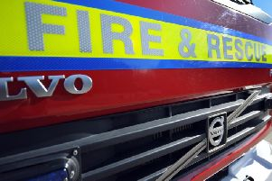 Three fire crews were called to the scene.