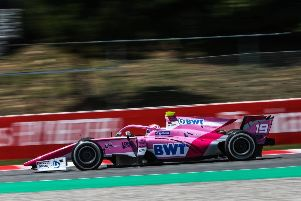 Anthoine Hubert on his way to a points finish for BWT Arden in Barcelona NNL-190514-121808002