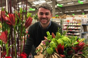 Dean Sharpe going for the senior Florist of the Year title