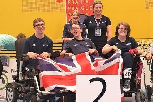 GB boccia team that won a silver medal at the Czech Open
