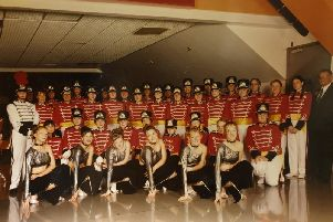 The Warwick Corp of Drums (Warwick Girls Marching Band) in 2002. Photo submitted.