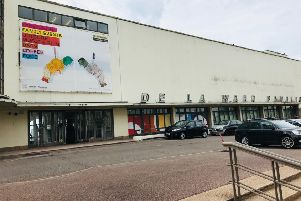 The new banner at the De La Warr Pavilion