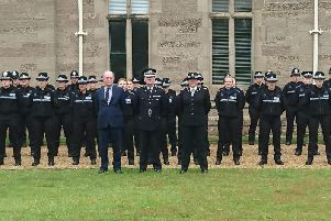 Pictures attached show the student officers and PCSOs ready for inspection with Chief Constable Martin Jelley, Police and Crime Commissioner Philip Seccombe and Assistant Chief Constable Debbie Tedds.