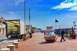 Arcade machines have arrived at Hastings Pier this week. Picture: John Gotts
