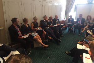 The county's senior health and local government officials, including Commissioner Tony McArdle were at the Westminster meeting.