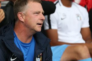 Mark Robins brings his Coventry City squad to the Phillips 66 Community Stadium tomorrow.