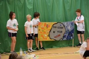 Pupils from Shoreham College Juniors, Eastbrook Primary Academy and Glebe Primary School made banners using recycled materials and created dances to highlight pollution