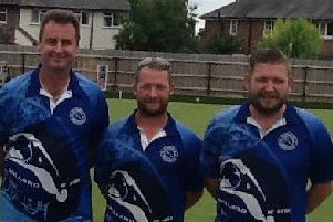 Parkway trio, from left, Paul Dalliday, Tristan Morton and Simon Law were all part of the Centenary Trophy success.