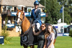 Brighton-based showjumper Leesa Long made an amazing recovery from injury to win at Hickstead on Thursday. Picture by Emily Gailey