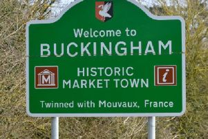 The 'Welcome to Buckingham' sign that has disappeared