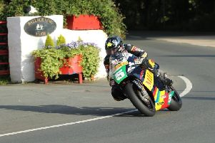 Bruce Anstey on the Milenco by Padgett's Honda RS250 at Ballacraine during Monday's Lightweight practice session at the Classic TT. Picture: Dave Kneen/Pacemaker Press.