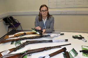 Eastbourne Police station firearms surrender - DI Vanessa Britain (Photo by Jon Rigby) SUS-190108-111114008