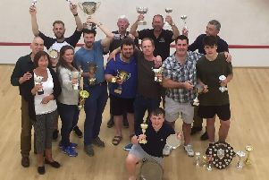 Bognor Squash Club competition winners at the end of last season