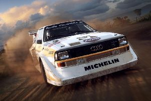 Image from the game DiRT Rally 2.0.