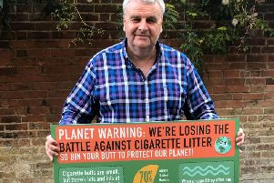 John Read of Clean Up Britain promotes the campaign