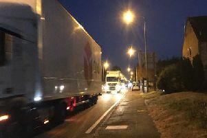 Traffic on the A5 in Hockliffe on Friday night when traffic was diverted by Highways England to the A505-A4146 when the M1 was closed