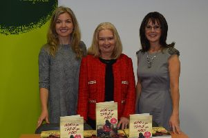 Pauline Burgess at the launch of her book with Dana Williamson and Gabby McNulty.