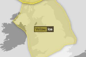 Yellow warning from Met Office