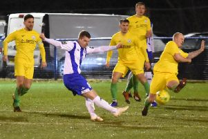 City defend at Haywards Heath / Picture by Grahame Lehkyj