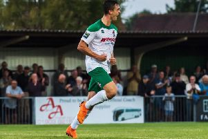 Dan Smith scored the winner against Merstham / Picture by Tommy McMillan