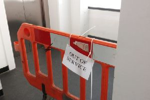 Lifts are frequently out of action at The Forum car park in Horsham SUS-190214-111131001