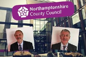 Commissioners Brian Roberts (left) and Tony McArdle say the council's financial resilience 'remains fragile'