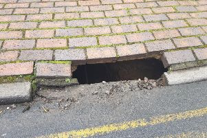 The void in New Road, Linslade. Photo: Leighton Buzzard Community Policing Team