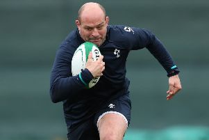Rory Best' during Irish training on Wednesday at Carton House