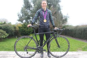 Olympic cycling gold medallist Dani Rowe is the new brand ambassador for M12 Solutions in Whiteley