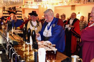 Warwick Court Leet were joined by other nearby Courts for their annual 'ale tasting' in Warwick. Photo by Gill Fletcher