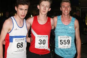 The first three finishers in the final A race of the 2019 Chichester series / Picture by Derek Martin