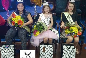 Senior Carnival Princess Maisie Reyland with Carnival Princesses Maya Esposito and Thea Shillingford.