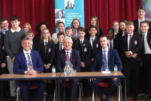 Buckingham MP and Speaker of the House of Commons John Bercow visits Cottesloe School in Wing to talk about his career in politics