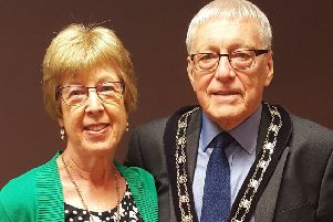Mayor Cllr David Bowater and his wife Jo