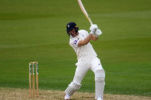 Joe Weatherley was unable to add to his overnight total of 47 not out as Hampshire were left frustrated by rain wiping out day two at Nottinghamshire. Picture: Harry Trump/Getty Images