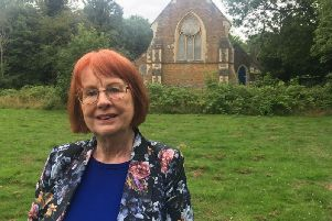 Sandra Bemrose is looking for people to help her uncover gravestones at the old St Crispin Hospital chapel