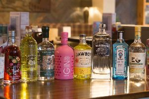 A selection of gins