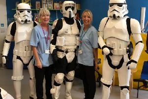 Retroplay visits Keech Hospice
