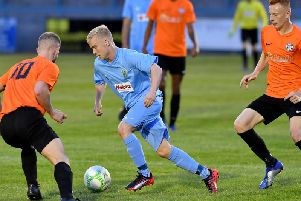 Harry Holloway started in midfield against Lutterworth on Tuesday evening