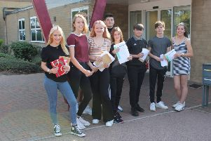 GCSE results day at Vandyke Upper School.