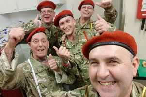 Members of Hampshire Skinhead Association before performing the Full Monty last year at the fundraiser