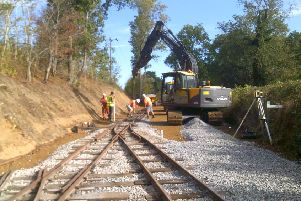 Track laying for the Leighton Buzzard Railway extension commences today