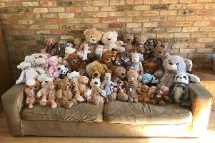 Sue's bears. Anna would like to thank everyone for their support during this difficult time.
