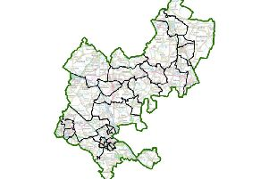 Political map of Central Bedfordshire. Credit: contains Ordnance Survey data (c) Crown copyright and database rights 2019