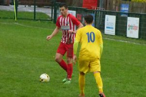 Tom Silford was man of the match in Saturdays FA Vase win, which saw Leighton Town beat Broxbourne 6-1    Picture by Andrew Parker
