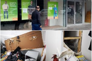 The Barnado's store in Northampton was broken into overnight after just three weeks after opening.