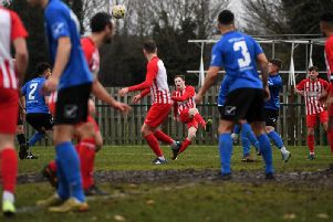 Danny Webb sends in a cross in Saturday's win against Biggleswade United  Picture by Jane Russell